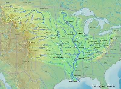 Longest Rivers In The United States - Longest river in us
